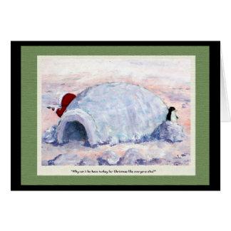 Penguin and Eskimo Card