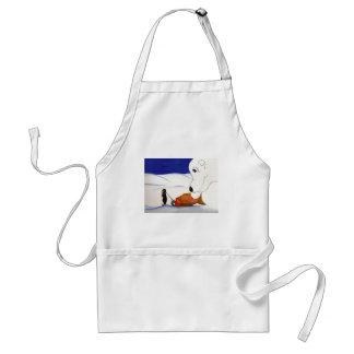 penguin and polar bear standard apron