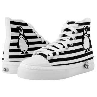 Penguin and Stripes High Tops