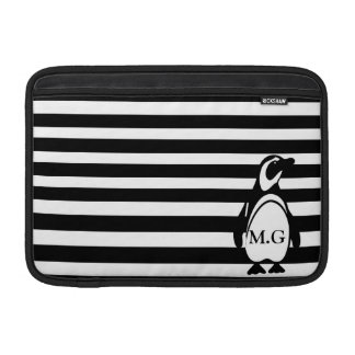 Penguin and Stripes MacBook Sleeve