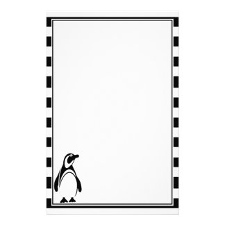Penguin and Stripes Stationery
