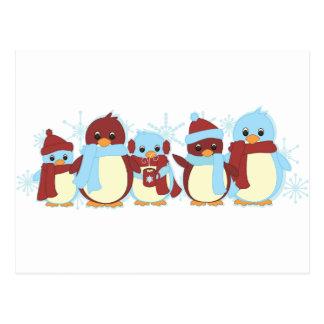 Penguin Around Postcard