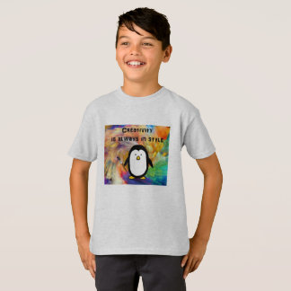 penguin art tshirt