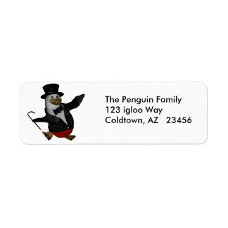 Penguin Awareness Day address ~ January 20 Return Address Label
