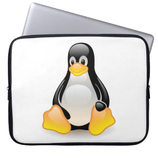 Penguin baby cute cartoon illustration laptop sleeve