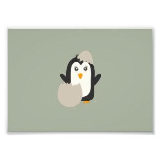 Penguin baby photo print