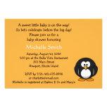 penguin; baby shower invitation
