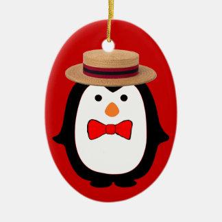 Penguin Barbershopper Christmas Ornament