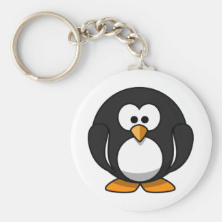Penguin Basic Round Button Key Ring
