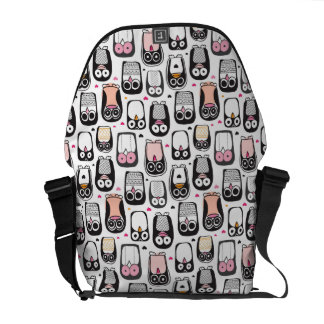 penguin bird illustration background messenger bag