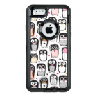 penguin bird illustration background OtterBox defender iPhone case