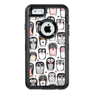 penguin bird illustration background OtterBox defender iPhone case