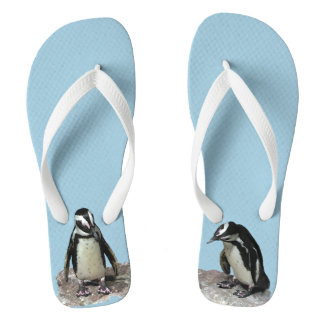 Penguin Birds Flip Flops