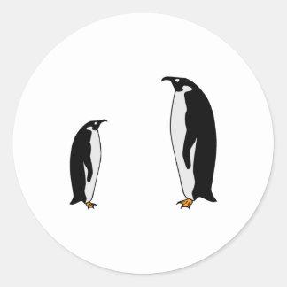 Penguin Birds Round Sticker