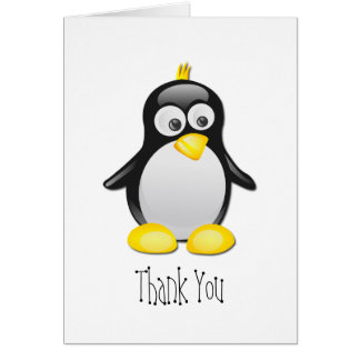 Penguin Blank Thank You Greeting Card