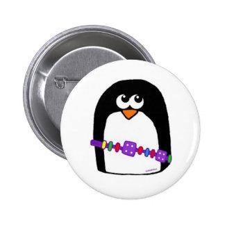 Penguin bracelet 6 cm round badge