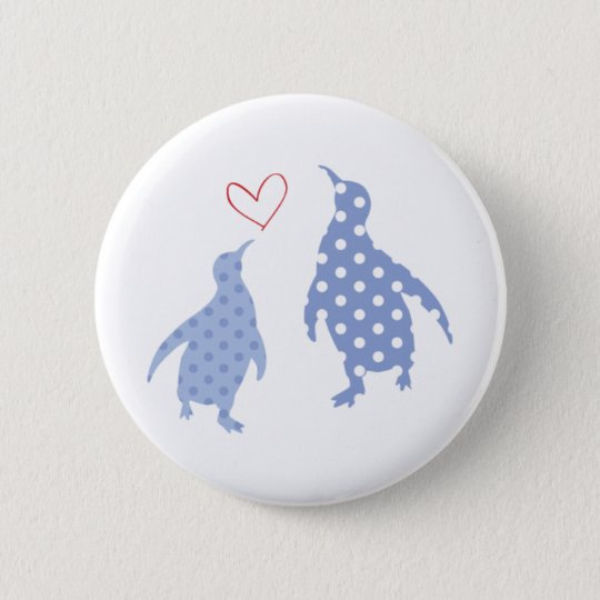 penguin button blue
