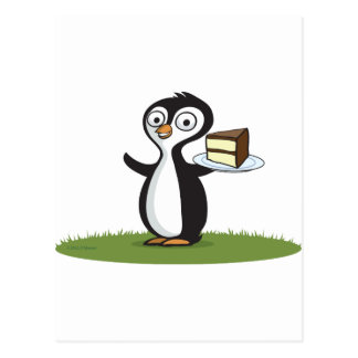Penguin Cake Postcard