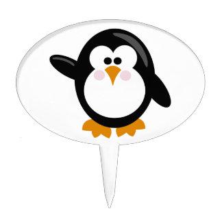 Penguin Oval Cake Picks
