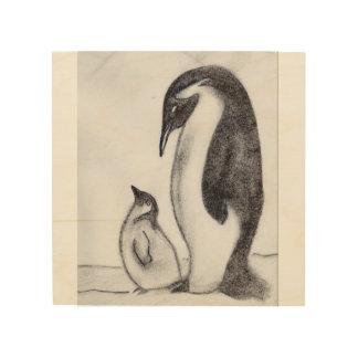 penguin canvas wood wall art