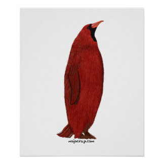 Penguin Cardinal (Male) Poster