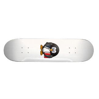 Penguin Carrying Books Custom Skate Board