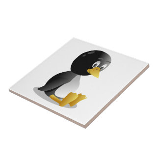 Penguin cartoon small square tile