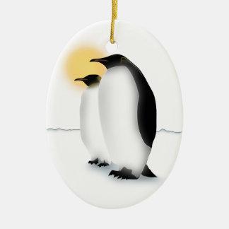 Penguin Ceramic Oval Decoration