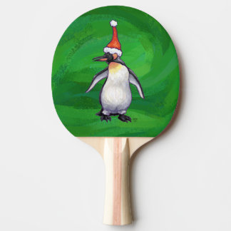 Penguin Christmas On green