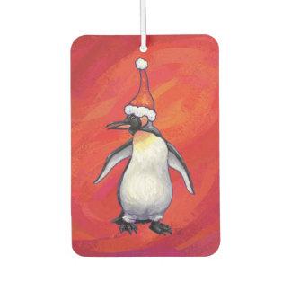 Penguin Christmas On Red