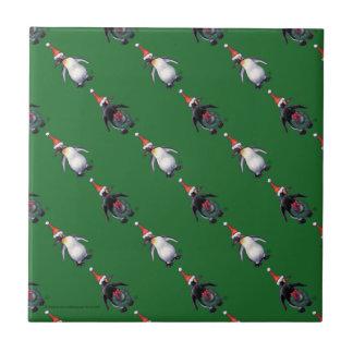 Penguin Christmas Tile