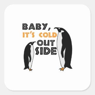 Penguin Cold Square Stickers
