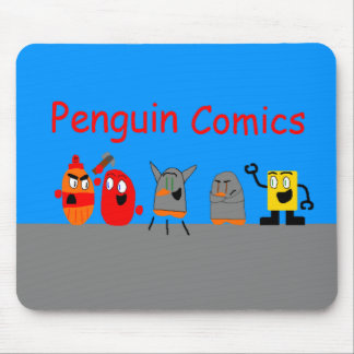 Penguin Comics Mouse Pad