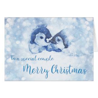 Penguin couple Christmas Card
