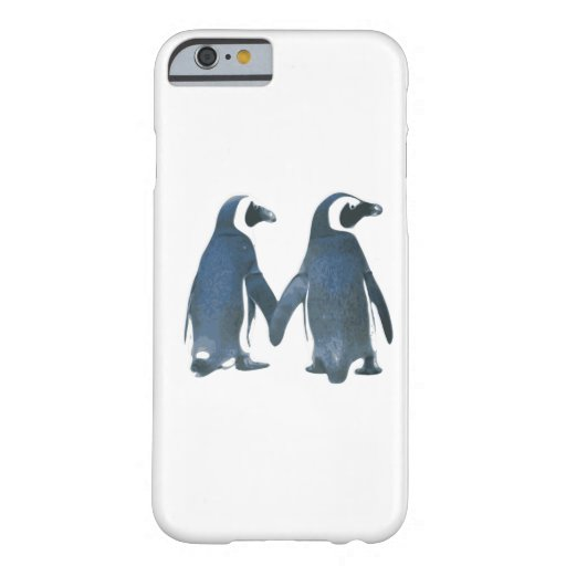 Penguin Couple Holding Hands iPhone 6 Case