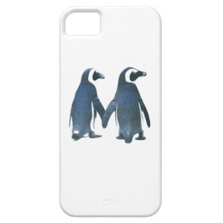 Penguin Couple Holding Hands iPhone 5 Cases