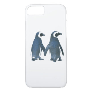 Penguin Couple Holding Hands iPhone 7 Case