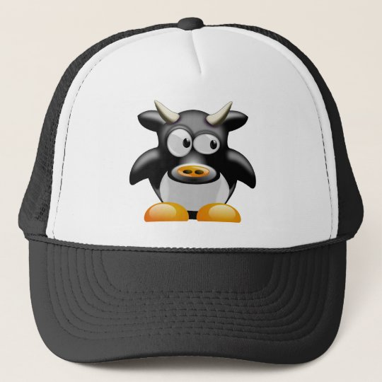 Penguin Cow With Horns Cap