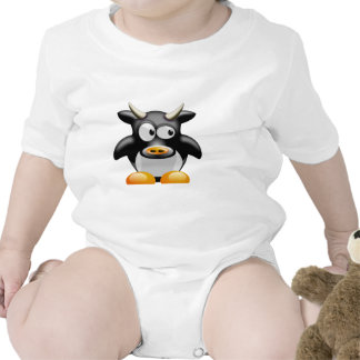 Penguin Cow With Horns Bodysuits