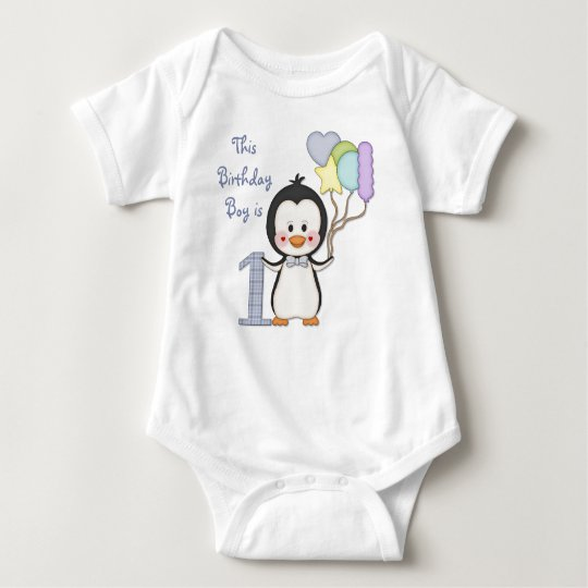 Penguin Cutie- Boy First Birthday Baby Bodysuit