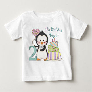 Penguin Cutie - Boy Second Birthday Baby T-Shirt