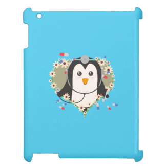 Penguin doctor with flower heart Q1Q iPad Covers