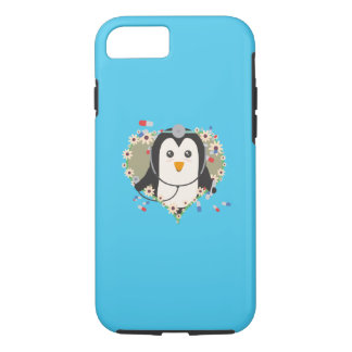 Penguin doctor with flower heart Q1Q iPhone 8/7 Case