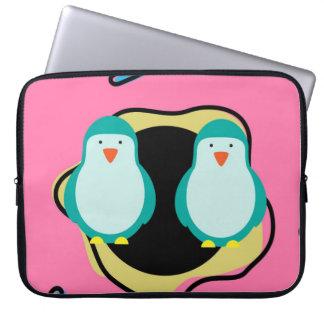Penguin Doughnuts Illustration Laptop Case Laptop Computer Sleeve