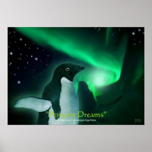 PENGUIN DREAMS Art Poster