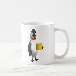 penguin drinking coffee coffee mug