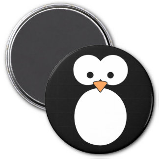 Penguin Eyes 7.5 Cm Round Magnet