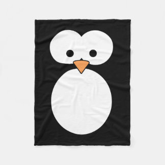 Penguin Eyes Fleece Blanket