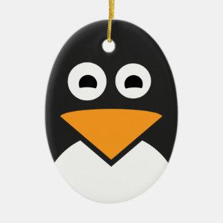 Penguin Face Christmas Ornament