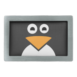 Penguin Face Rectangular Belt Buckles